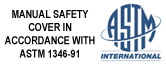 Our covers are built in accordance with safety standard ASTM 1346-91
