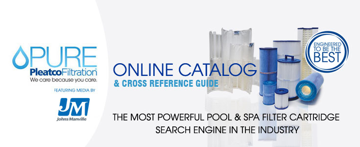 The best online catalog of spa and pool filters featuring PURE by Pleatco Filtration.
