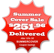 Spa cover prices from $251.96 with Free Home Delivery after SUMMERCOVER coupon savings