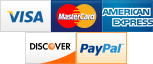 We gladly accept Visa, Mastercard, Discover, American Express and Paypal.